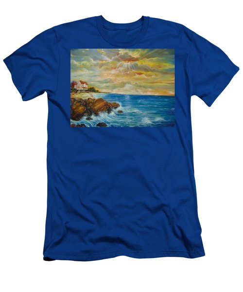 Men's T-Shirt (Slim Fit) featuring the painting A Place In My Dreams by Emery Franklin