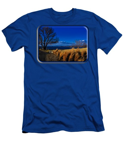 A Side Path Men's T-Shirt (Slim Fit) by Mark Myhaver