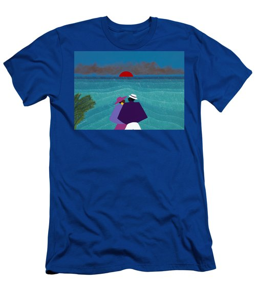 A Turks And Caicos Sunset Men's T-Shirt (Athletic Fit)