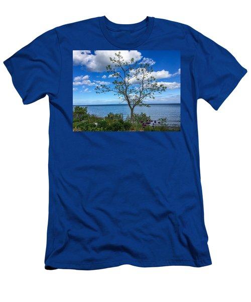 A Walk Along Lake Michigan Men's T-Shirt (Athletic Fit)