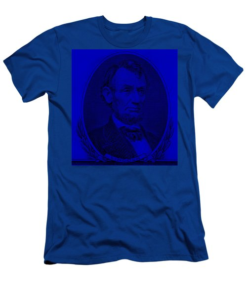 Men's T-Shirt (Athletic Fit) featuring the photograph Abe On The 5 Violet by Rob Hans