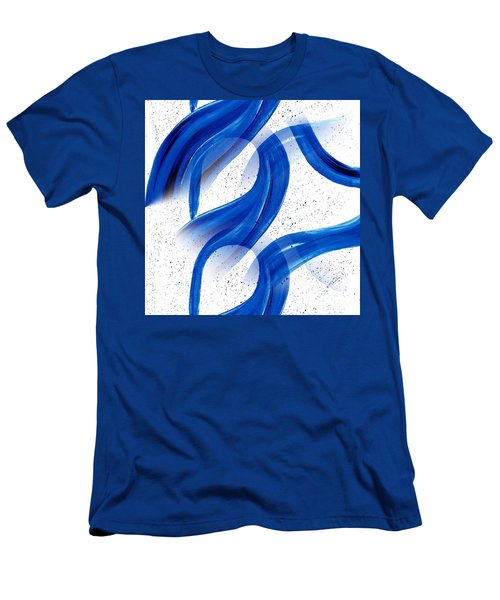 Abstract Acrylic Painting Blues Series 2 Men's T-Shirt (Slim Fit) by Saribelle Rodriguez