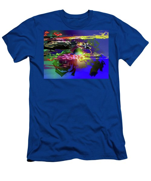 Abstract Flowers Of Light Series #11 Men's T-Shirt (Athletic Fit)