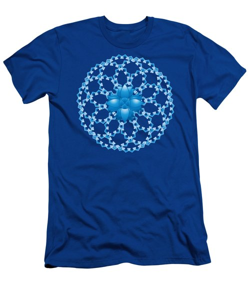Abstract Lotus Flower Symbol Men's T-Shirt (Athletic Fit)