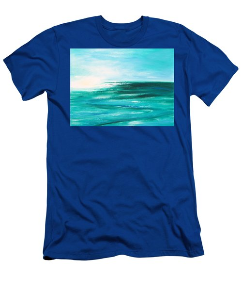 Abstract Sunset In Blue And Green 2 Men's T-Shirt (Athletic Fit)