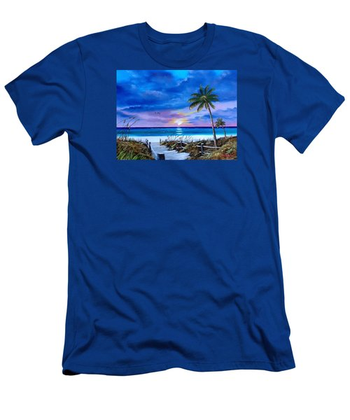 Access To The Beach Men's T-Shirt (Slim Fit) by Lloyd Dobson