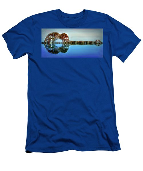 Men's T-Shirt (Slim Fit) featuring the digital art Acoustic Guitar At Gordon's Pond by Bill Swartwout