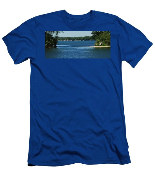 Men's T-Shirt (Slim Fit) featuring the photograph Across The Bay by Ramona Whiteaker