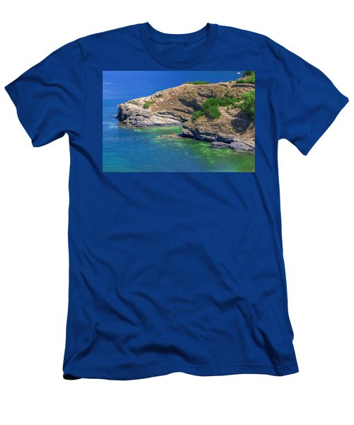 Aegean Coast In Bali Men's T-Shirt (Athletic Fit)