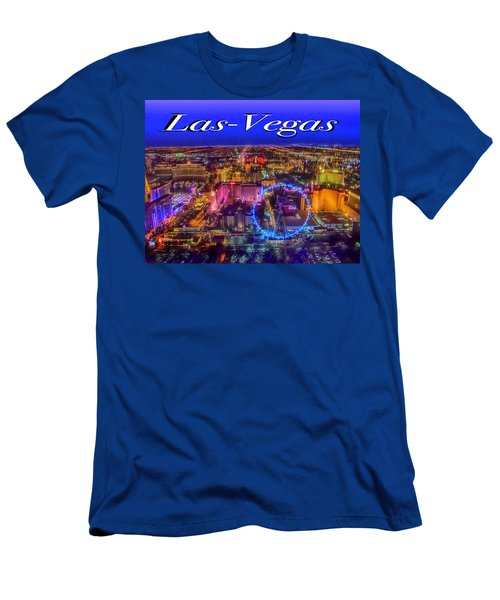 Aerial Las- Vegas Evening Men's T-Shirt (Athletic Fit)