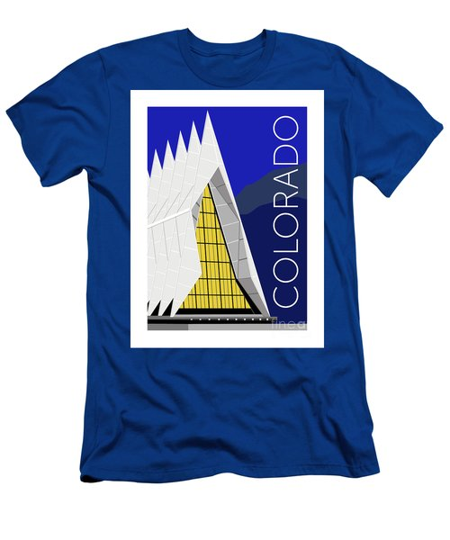 Men's T-Shirt (Athletic Fit) featuring the digital art Colorado Afa Chapel by Sam Brennan