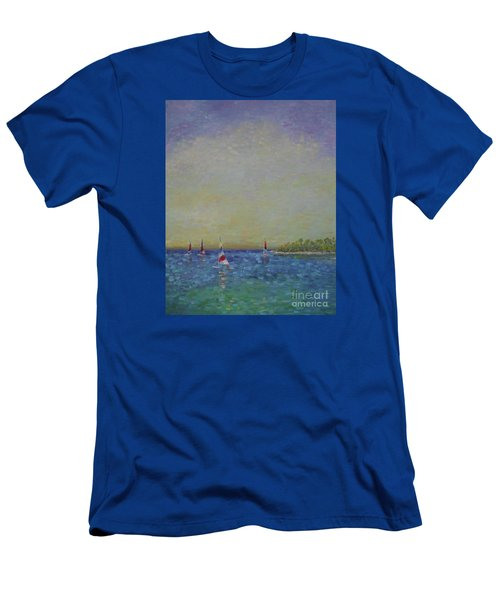 Afternoon Sailing Men's T-Shirt (Slim Fit) by Gail Kent