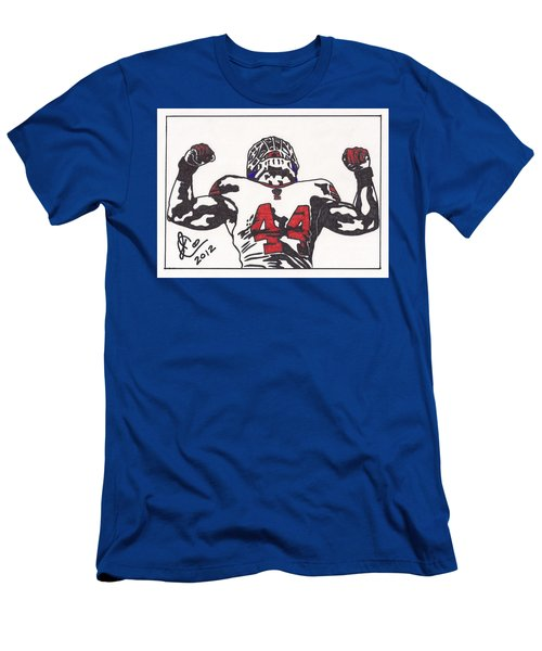 Men's T-Shirt (Slim Fit) featuring the drawing Ahmad Bradshaw by Jeremiah Colley
