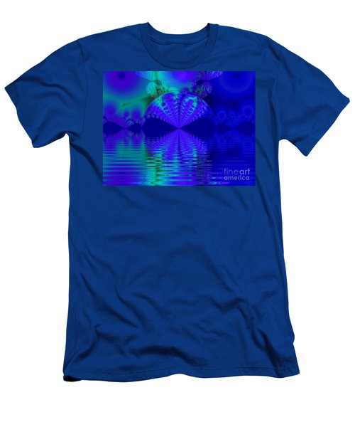 Alien Sunset Over Fantasy Lake Men's T-Shirt (Athletic Fit)