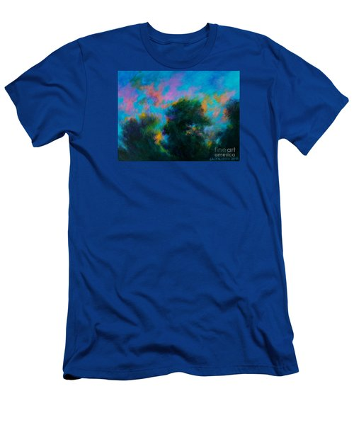 Men's T-Shirt (Slim Fit) featuring the painting Alison's Dream Time  by Alison Caltrider