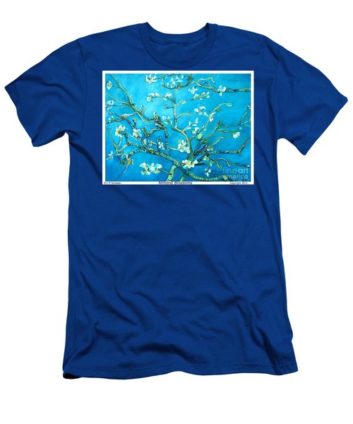 Almond Blossom Men's T-Shirt (Slim Fit) by Eric  Schiabor