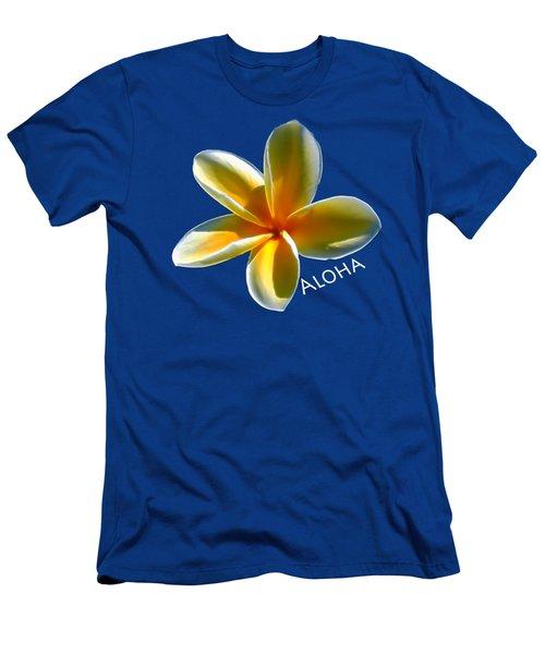 Aloha Plumeria Men's T-Shirt (Slim Fit) by Pamela Walton