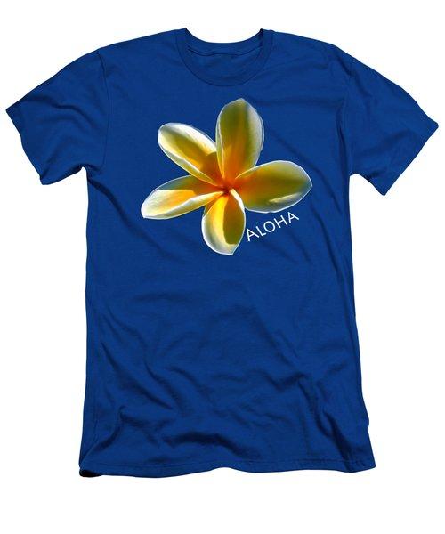Aloha Plumeria Men's T-Shirt (Athletic Fit)