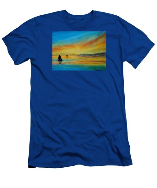 Alone In Winter Sunset Men's T-Shirt (Athletic Fit)