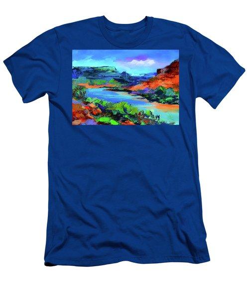 Along Colorado River - Utah Men's T-Shirt (Athletic Fit)