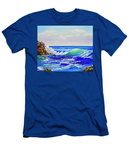 Men's T-Shirt (Athletic Fit) featuring the painting Along The Coast by Mary Scott