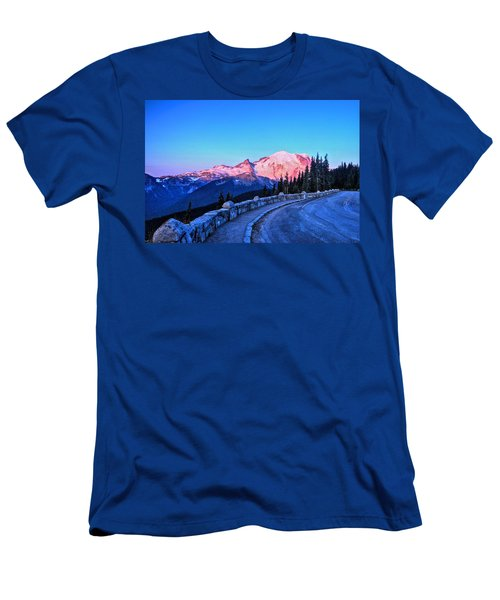 Alpenglow At Mt. Rainier Men's T-Shirt (Athletic Fit)