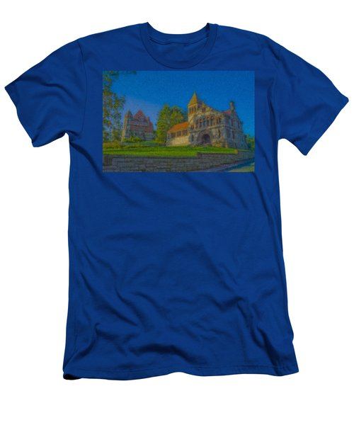 Ames Hall And Ames Free Library Men's T-Shirt (Athletic Fit)