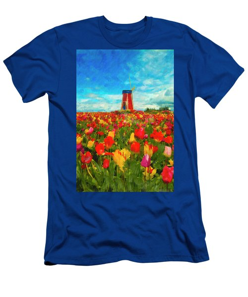 Amongst The Tulips Men's T-Shirt (Athletic Fit)