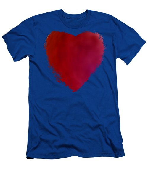 An Alabama Crimson Tide's Red Heart In Abstract Men's T-Shirt (Athletic Fit)
