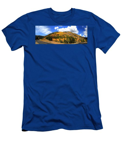 An Autumn Drive - Panorama Men's T-Shirt (Athletic Fit)