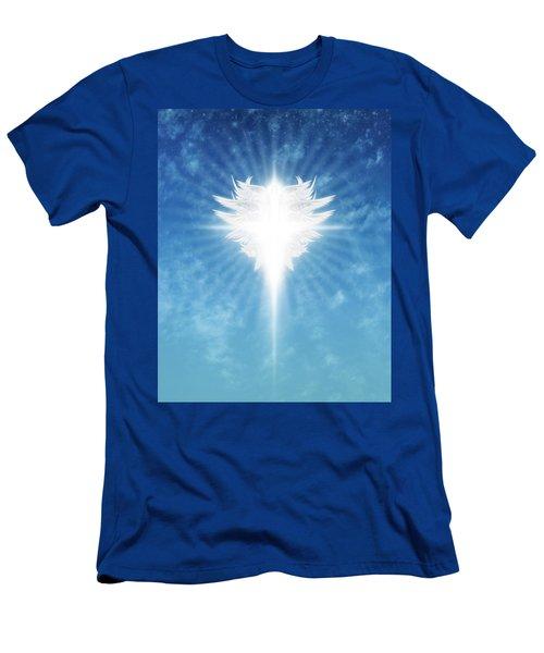 Angel In The Sky Men's T-Shirt (Slim Fit) by James Larkin