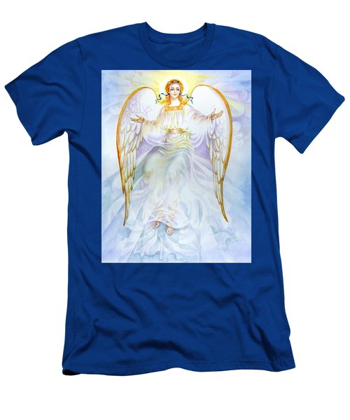 Men's T-Shirt (Slim Fit) featuring the painting Angel Of Grace by Karen Showell
