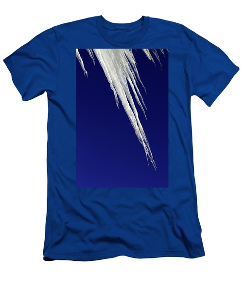 Men's T-Shirt (Athletic Fit) featuring the photograph Angled Ice by Shane Bechler
