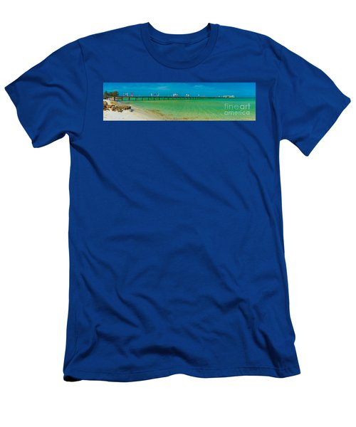 Anna Maria Island Historic City Pier Panorama Men's T-Shirt (Athletic Fit)