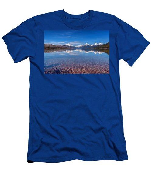 Apgar Beach Rocky Shore Men's T-Shirt (Athletic Fit)
