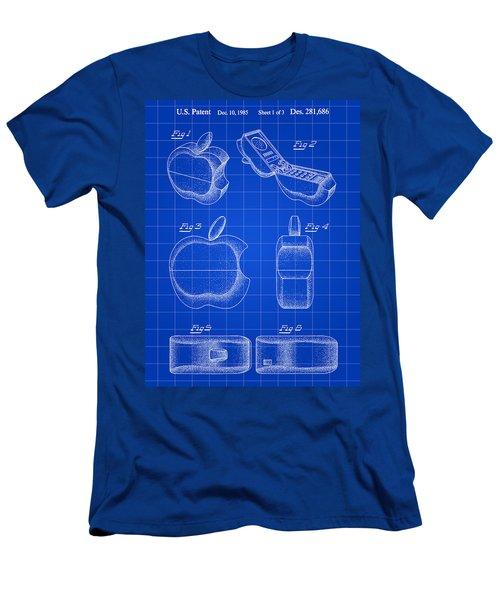 Apple Phone Patent 1985 - Blue Men's T-Shirt (Athletic Fit)