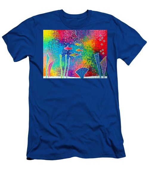 Aquarium Men's T-Shirt (Slim Fit) by Jeremy Aiyadurai