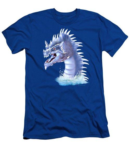 Arctic Ice Dragon Men's T-Shirt (Athletic Fit)