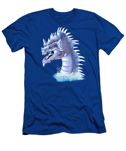 Arctic Ice Dragon Men's T-Shirt (Athletic Fit)