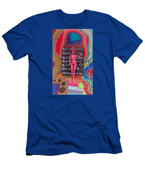 Men's T-Shirt (Slim Fit) featuring the painting Arnica Herbal Tincture by Clarity Artists