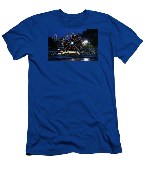 Arnolds Park At Night Men's T-Shirt (Athletic Fit)