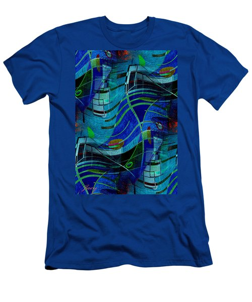 Men's T-Shirt (Slim Fit) featuring the digital art Art Abstract With Culture by Sheila Mcdonald
