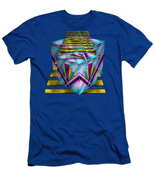 Art Deco Cubes - Transparent Men's T-Shirt (Slim Fit) by Chuck Staley