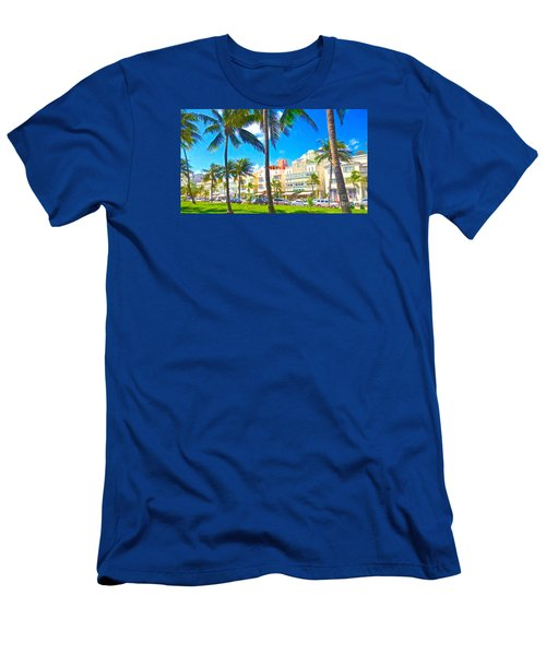 Men's T-Shirt (Slim Fit) featuring the painting Art Deco Style by Judy Kay