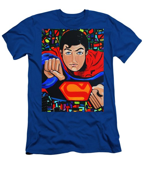 Art Deco  Superman Men's T-Shirt (Athletic Fit)