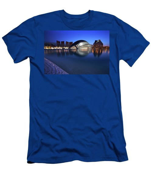 Arts And Science Museum Valencia Men's T-Shirt (Slim Fit) by Graham Hawcroft pixsellpix