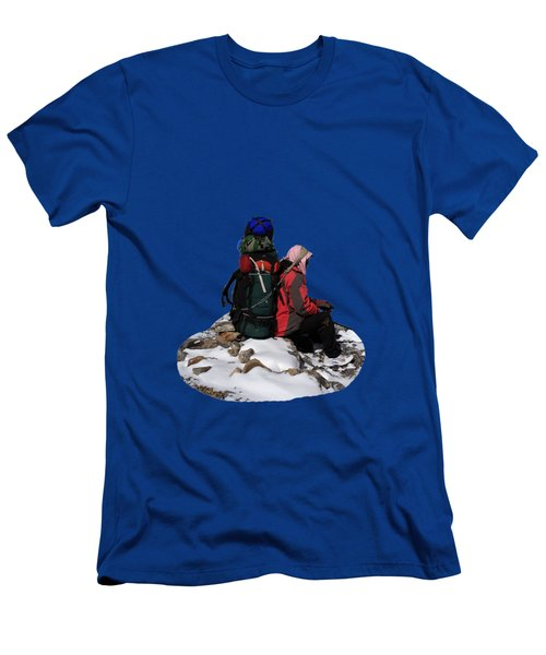 Men's T-Shirt (Slim Fit) featuring the photograph Himalayan Porter, Nepal by Aidan Moran