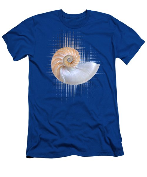 Nautilus Seashell Abstract - Vertical Men's T-Shirt (Athletic Fit)