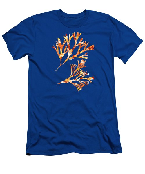 British Algae Abstract Fucus Vesiculosus Men's T-Shirt (Athletic Fit)