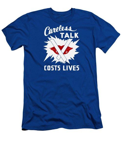 Careless Talk Costs Lives  Men's T-Shirt (Athletic Fit)